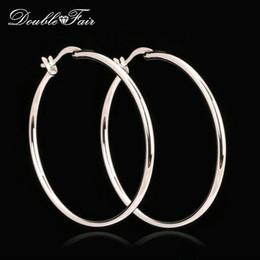 Vintage copper hoop earrings online shopping - Elegant Big Hoop Earrings Silver Color Platinum Plated Copper Metal Fashion Vintage Punk Jewelry Anti allergy For Women DFE659