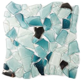 discount blue glass mosaic tile | 2017 blue glass mosaic wall tile