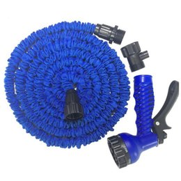 Wholesale 100FT Triple Expandable Flexible Hoses Garden Water Magic Hose With Spray Nozzle Head Gun Sprayers Car washing Plants watering Factory Price