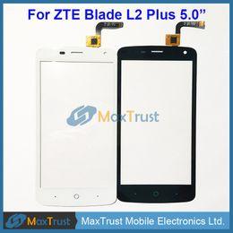 "Zte Touch Panels Canada - Top Quality 5.0"" For ZTE Blade L2 Plus L370 C370 Touch Screen Digitizer Glass Panel Sensor Black White Color"