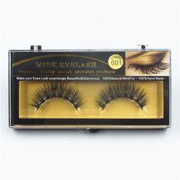 EyElash fur online shopping - 19 Styles Pair Premium Quality False Eyelashes Handmade Real Mink Hair Fur Eyelash Soft Fake Eye Lash Extension Full Strip Lashes