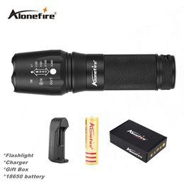 Flash Drive Fish Australia - AloneFire E26 XML T6 High Power Tactical Led Flashlight 26650 zoom Flashlight T6 Led Zoomable flash light lamp