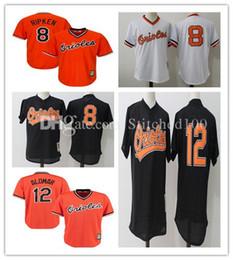 ebf48ab42 ... Mens Baltimore Orioles Cal Ripken Jr. Roberto Alomar Baseball Jerseys  stitched Mitchell Ness Black Cooperstown Throwback ...