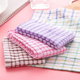 wholesale cotton rags NZ - hotsale 4 colores cotton blends washing towel cloths kitchen oil water absorbent dish hands towels cleaning cloth wipes rags 39x26cm size