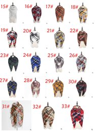 $enCountryForm.capitalKeyWord NZ - 54 COLORS Winter New Tartan Scarf Plaid Blanket Scarf New Designer Unisex Acrylic Basic Shawls Women's Scarves Big Size 140 *140 CM