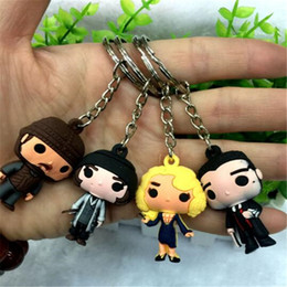 wholesale plastic figures Australia - Action Figure Keychain Fantastic Beasts And Where to Find Plastic Newt Scamander Niffler Cartoon Keychain Key Chains Key Rings Anime Men