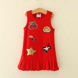 $enCountryForm.capitalKeyWord Canada - Kids Girls Sequins Dresses 2017 Baby Girl Cartoon Dress Infant Girls Striped Tutu Dress for Party Princess Vestidos Children Clothing S983