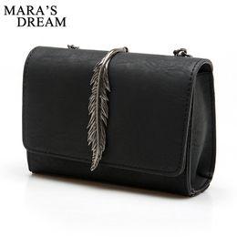 $enCountryForm.capitalKeyWord NZ - Wholesale- Mara's Dream 2017 Leaves Decorated Mini Flap Bag Suede PU Leather Solid Color Small Women Shoulder Bag Chain Messenger Bag