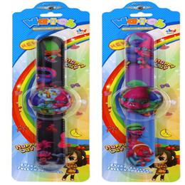girls electronics 2019 - DHL Cartoon Trolls Slap Electronic Watches Poppy Kids Pops Wrist Watch for Children Best Gift Baby Girls Boys PVC Jewelr