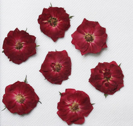 epoxy resin pendants Australia - 250pcs 30mm Pressed Press Dried Rose Flower Filler For Epoxy Resin Pendant Necklace Jewelry Making Craft DIY Accessories