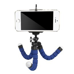 Wholesale Flexible Tripod Holder For Cell Phone Car Camera Gopro Universal Mini Octopus Sponge Stand Bracket Selfie Monopod Mount With Clip OPPBAG