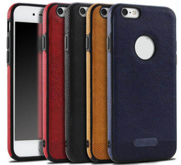 Wholesale 5s iphone resale online - Luxury Mikki Leather Armor Hybrid Business Soft TPU Case For Iphone X Plus s SE S Galaxy S9 Note S8 S7 Shockproof Silicone Cover