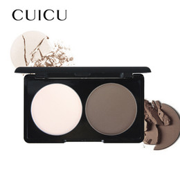 Discount two faced palette Wholesale- Brand Makeup Face Brozer Highlighter Powder Easy to Wear 1 pcs Two-color Highlight and Contour Palette Net 10