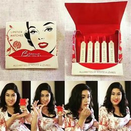 $enCountryForm.capitalKeyWord Canada - Lastest Besame lipstick Matches 6colors ALLUMETTES Lip gloss Baseme Red Noir Red Cherry Red American Beauty Red Velvet Red Hot Red Besame