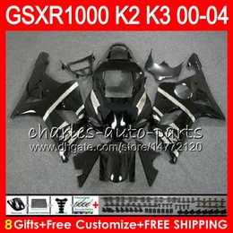 gsxr fairing red white 2018 - 8Gifts 23Colors For SUZUKI GSXR1000 00 01 02 03 04 K2 gloss black 14HM3 GSXR-1000 GSX R1000 2000 2001 2002 K3 GSXR 1000