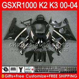 Gsxr fairinG red white online shopping - 8Gifts Colors For SUZUKI GSXR1000 K2 gloss black HM3 GSXR GSX R1000 K3 GSXR Fairing