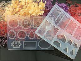 $enCountryForm.capitalKeyWord Australia - New Brand High Quality 12 13 cubes Crystal epoxy pendant silicone mold DIY handmade jewelry Affirmative puzzle with elliptic drops