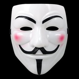V Vendetta Cosplay UK - MOQ:50PCS Hot Selling Party Masks V for Vendetta Mask Anonymous Guy Fawkes Fancy Dress Adult Costume Accessory Party Cosplay Masks