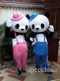 $enCountryForm.capitalKeyWord Canada - couple doll bears fast shipping Mascot Costume Kung Fu Panda Cartoon Character Costume Adult Size Wholesale and retail