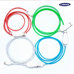 China 1M 3FT Visible Luminous LED Light Up Flowing Micro USB Lighting Charging Cable Running Flash Data Sync Transmit Line for i5i6 Android suppliers