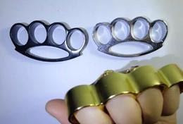 Großhandel GILDED DICKES STAHL MESSING KNUCKLE DUSTER Farbe Messing Knöchel Clutch Knuckle Messer Selbstverteidigung Werkzeug