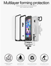 Discount band cases For iPhone 7 7 Plus 6 6s Plus Waterproof Case Snowproof Shockproof Cover Arm Band Outdoor Shell Underwater Diving Housing Newoer