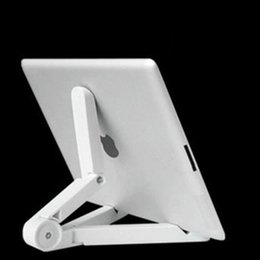 Ipad Tablet Stands NZ - Universal Adjustable Fold-Up mobile phones Stands Mount Holder Tripod Cradle for iPad 2 3 4 5 Mini Air 7-10 inch Tablet PC