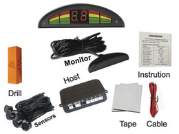 Probe Car UK - PZ307 PZ308 PZ309 PZ310 LED Parking Sensor Car Crescent Beeper Reversing Radar Four Probes Numeral LED Digital Display Free DHL