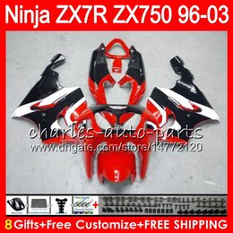 $enCountryForm.capitalKeyWord NZ - 8Gifts 23Colors For KAWASAKI NINJA ZX7R 96 97 98 99 00 01 02 03 18HM5 TOP red black ZX750 ZX 7R ZX-7R 1996 1997 1998 1999 2000 2003 Fairing
