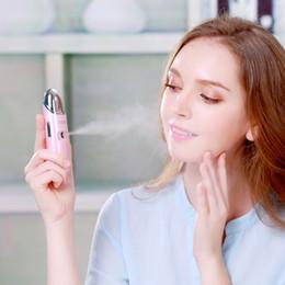 $enCountryForm.capitalKeyWord Australia - Mini Portable Atomizer Face Spray Facial Steamer Vibration Massager Nano Mister Sprayer SPA Sauna Nebulizer Beauty Hydrating Skin Care Tools
