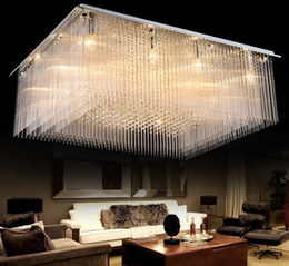 Large pendant ceiling lights online shopping large pendant ceiling rectangle luxury crystal hall large ceiling lamp led creative sitting room restaurant pendant light engineering indoor lamp llfa aloadofball