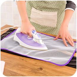 Venta al por mayor de 40 * 60 cm de alta temperatura que plancha el paño que plancha el aislamiento protector de protección contra el colchón que plancha caliente del hogar