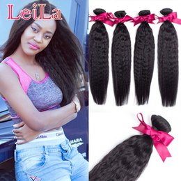 Dhl hair peruvian straight online shopping - Brazilian Hair Weaves Unprocessed Hair Bundles Human Hair Weave DHL Kinky Straight Extensions Coarse Yaki