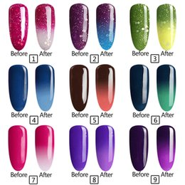 Grossissement Par Essaimage Uv Polissage Pas Cher-Vente en gros - Chameleon parfait Température Changement de couleur UV / LED Gel Vernis à ongles Laque À long terme Soak Off Nail Gel Polish