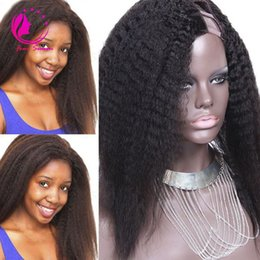 U Part Hair NZ - Wholesale Price Soft U Part Wig Kinky Straight Human Hair Peruvian Virgin Human Hair Upart Wig Straight Style Middle Side Part