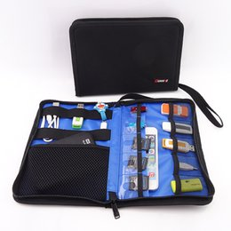 $enCountryForm.capitalKeyWord NZ - Wholesale- Foldable digital Organizer Roll UP Winder Earphone Portabla Electronics Hard Drive Storage Bag Stable Travel Cable Organizer