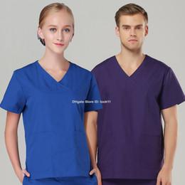 Nurses uNiforms suits online shopping - Plus size women nurse uniform hospital nursing medical clothing scrub set short sleeve medico suit scrub dental clinic spa medical robe