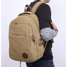 $enCountryForm.capitalKeyWord Canada - 2 Colors Vintage Canvas Outdoor Backpack - Hiking Camping Travel Rucksack - Casual Large College School Daypack For Laptop