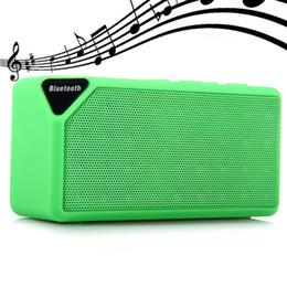 Surround Sound Speaker Mini Canada - X3 Mini Bluetooth Speaker TF USB FM Radio Wireless Portable Music Sound Box Subwoofer Loudspeakers with Mic for iOS Android