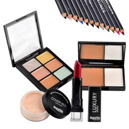 Discount magical halo lipstick - Class Makeup Set Magical Halo Makeup Combination Lipstick Loose Powder Eyeshadow Pencil Concealer Bronzer Press Powder 1