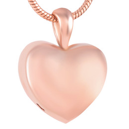 $enCountryForm.capitalKeyWord NZ - IJD9357 Rose Golden Plating Smooth Heart Cremation Jewelry For Ashes Classic Design Charms Urn Pendants 316L Stainless Steel