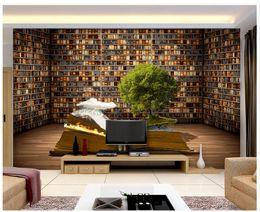Books Live Canada - 3D photo wallpaper custom 3d wall murals Book shelf living room sofa background 3d living room wall decor