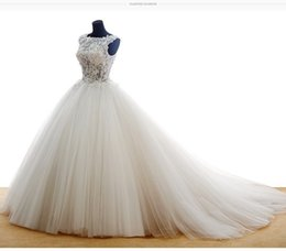 real sample show ball gown wedding dresses 2017 organza lace appliques back lace up ivory wedding bride dress romantic