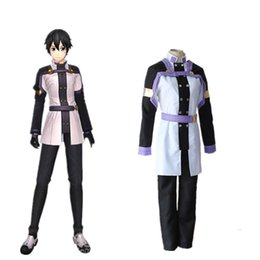 Wholesale Kirigaya Kazuto cosplay costumes Japanese anime Sword Art Online The Movie Ordinal Scale clothing Masquerade Mardi Gras Carnival costumes