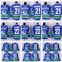 b9f7d7df3 ... Vancouver Canucks 22 Daniel Sedin Jersey Best Quality Blue Team Color  White D.Sedin Jersey ...