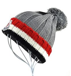 Chinese  Free Shipping Winter MON brand men women unisex beanies hight quality Casual knitting cap ski Gorros pom-pom caps hats with original tag manufacturers