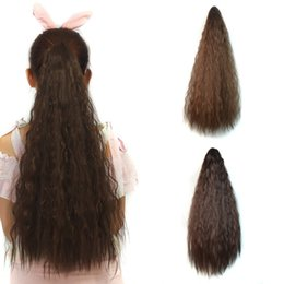 Long cLaw ponytaiL online shopping - Sara Fluffy Hair Style Claw Clip in Kinky Curly Ponytails Long CM Inch Synthetic Hairpiece Pony Tail Horsetail