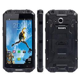V8 Smartphone 2800 mAh Büyük Pil Çift Çekirdekli Cep Telefonu IP68 Su Geçirmez Darbeye Dayanıklı Sağlam telefon MSM8212 4.0 Inç Dört Çekirdekli Mobilephone Yeni indirimde