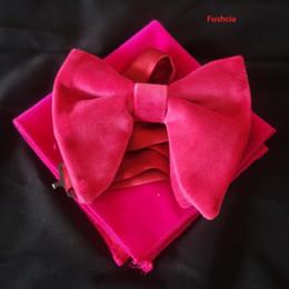 $enCountryForm.capitalKeyWord Canada - Fushcia Velvet Bowties with Matching hankie Mens Unique Tuxedo Velvet Bowtie Bow Tie Hankie Set Necktie Set