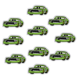 iron car patch UK - 10 pcs green cars patches badges for clothing iron embroidered patch applique iron on patches sewing accessories for DIY clothes